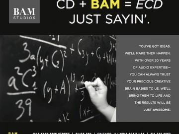 "BAM Studios August 2012 ""ECD"" Ad"