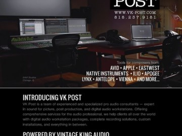 BAM Studios showcased in Vintage King Audio's latest print campaign!