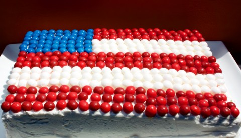 4th of July BAM Skittle Cake