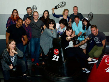 BAM bumps Ink Factory in WhirlyBall!