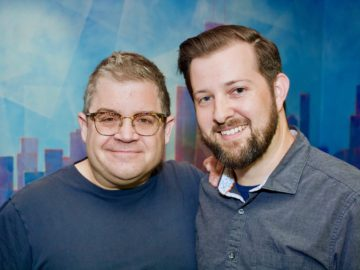 "Patton Oswalt records VO at BAM for Syfy's ""HAPPY""!"