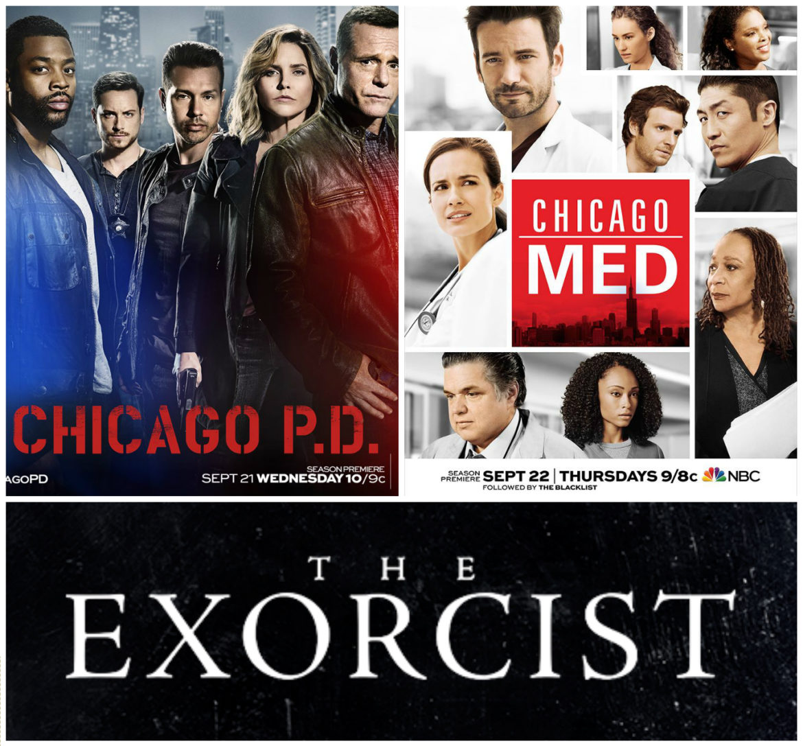 "Premieres this week: ""Chicago P.D."", ""Chicago Med"", & ""The Exorcist""!"